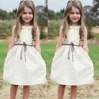 Toddler Kids Baby Girls Dress Sleeveless Princess Party Pageant Summer Dresses N