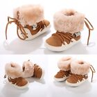 Newborn Baby Girls Boys Winter Snow Boots Soft Warm Lace Up Crib Shoes B20E