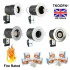 4/10 X LED FIRE RATED TILT DOWNLIGHTS 5W LED GU10 RECESSED CEILING SPOT LIGHTS