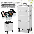 3 in 1 Aluminum Pro Rolling Makeup Case Salon Cosmetic Technician Organizer US <br/> Ship from CA &amp; chicago &amp; NJ! Premium Quality! 3 IN 1!