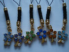 #06. 1 x CRYSTAL FLOWER STEM PHONE/HANDBAG CHARM