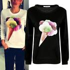 Fashion Women's Casual Pullover T-Shirt Long Sleeve Tops Blouse Sweatshirts