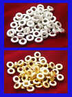 50 Shiny Donut Spacer Beads - 6mm (SP055) 2 Colours - FREE POSTAGE