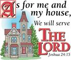 As For Me & My House - Serve The Lord Shirt, Christian Shirt, Bible, Small - 5X