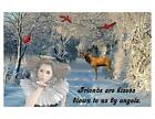 Custom Made T Shirt Friends Are Kisses Blown to Us By Angels Snow Scene Deer