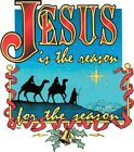 Jesus is Reason For Season, Christmas Shirt, Christian Holiday, Sm - 5X
