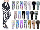 Print Leggings Damen Röhre Jeggins Stretch Hose Print Muster Ladies