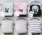 The Whole Caboodle 5 Pc Set Car Seat Canopy Cover Jersey Stretch Baby Boys Girls