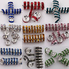 100 Pcs Acrylic Silver Plated Spacer Loose Beads Charms Earring Findings 8 mm