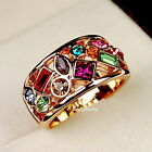 18k Rose Gold Plate Made with Swarovski Crystal Cocktail Wrap Ring SR91
