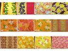 12 PRINTS YELLOWS HAWAIIAN FLORAL PRINT POLY COTTON FABRIC $4.99/YD