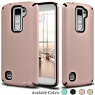 Hybrid Shockproof Silicone Armor Impact Phone Case Cover For LG K10 Premier LTE