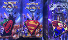 Lot 3D cartoon superman mixed PVC Rubber Toys gift Key chain Keyring