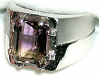 Men's Bolivian Ametrine Ring *R5*  Sterling Silver or Stainless Steel You Pick