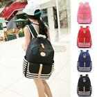 Girls Cute Canvas Casual Zipper Shoulder Backpack Lady Travel Satchel School Bag