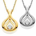 1/5ct Solitaire Round Diamond Pendant Available in White & Yellow Gold