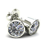 .33Ct Round Brilliant Cut Natural Quality Diamond Stud Earrings14K Gold