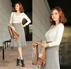 Women Sweater Blouses Jumper Pullover Top V Neck Slim Fit Tops Handsome Classic