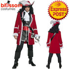 CA190 Authentic Pirate Captain Of The Caribbean Jack Sparrow Mens Costume Outfit