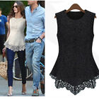 Fashion Nice Women Ladies Sleeveless Embroidery Lace Cassical Tops Shirts Blouse