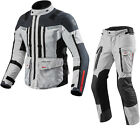 Rev It Sand 3 Motorcycle Jacket & Trousers Silver Anthracite Kit Mens CE Bundle