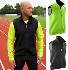 Spiro Mens Sleeveless Soft Shell Gilet Body Warmer - Run Bike Outdoor Sport