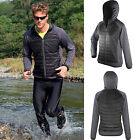 Spiro Mens Faux Down Padded Hooded Jacket - Breathable Showerproof Quick Dry