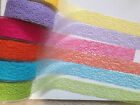 MAY ARTS Jute Mesh Net Webbing Ribbon - Various lengths - 38mm - 19 Shades!!