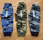 NEW Boys GARANIMALS Camo Fleece Sweat Pant ~Green Blue or Gray~ 2T or 3T