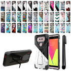 For LG V20 VS995 H990 LS997 H918 US996 Hybrid Dual Layer Stand Case Cover + Pen