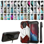 "For Motorola Moto G4/ G4 Plus 5.5"" XT1625 Hybrid Dual Layer Kickstand Case + Pen"