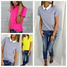 Summer Fashion Loose Women Casual Short Sleeve Chiffon T-shirt Tops Shirt Blouse