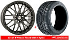 Alloy Wheels & Tyres 17'' Calibre Motion For Nissan Presea 90-00