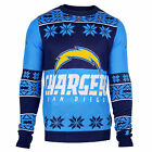 NFL UGLY SWEATER Pullover Christmas Style SAN DIEGO CHARGERS Big Logo Football