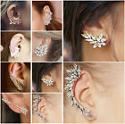 1 Pcs Fashion Women Lady Elegant Crystal Rhinestone Ear Clip Stud Earrings