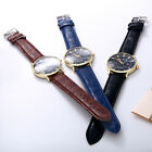 Newest Fashion Casual Men's Women's Leather Stainless Steel Quartz Wrist Watch