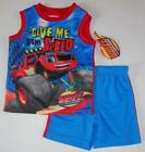 BLAZE AND THE MONSTER MACHINES Truck Boys 4 5 6 7 Set OUTFIT Shirt Shorts