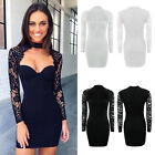 Sexy Women Summer Casual Long Sleeve Party Evening Cocktail Short Mini Dress New