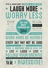 New Be Awesome Laugh More Worry Less Poster