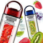 700ml Portable Fruit Infuser Infusion Drink Juice Water Bottle Cup Sports ES B