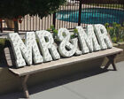 MR & MR Plug-In Rustic Metal Wedding Love Letters Sign Marquee Married Light