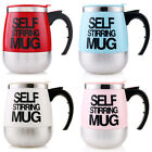 Stainless Steel Automatic Plain Mixing Coffee Tea Cup Lazy Self Stirring Mug New