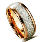 Tungsten Ring Tungsten Band Gold Plated Silver Inlay Tungsten Wedding Band M20
