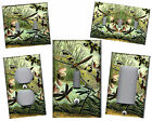 DRAGONFLIES GREEN TONES HOME DECOR LIGHT SWITCH PLATE