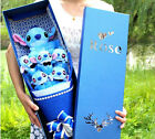 Cartoon Blue Stitch Festivals Gift Bouquet For Birthday/Valentine's W/Gift box