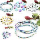 New Colorful Stone Cube Oval Cylinder Shape Loose Spacer Craft Crystal Beads