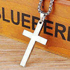 New styles Men's Stainless Steel Cross Gold Silver Black Blue Pendant Necklace