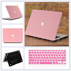 """2in1 Pink Wood Leather Coated Matte Case for MacBook Air Pro 13.3"""" 15"""" Touch Bar"""