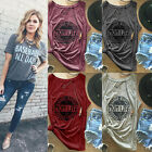 Summer Women Letter Printed Short Sleeve Casual Loose T-Shirt Tee Tops Blouse DV