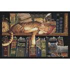 Remington the Well Read Cat Art Tapestry Placemat 2877-PM ~ Made in USA